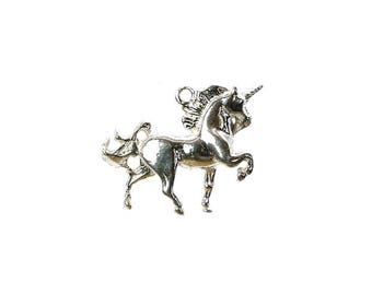 Sterling Silver Unicorn Charm For Bracelets