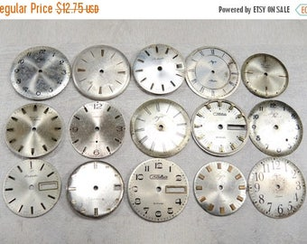 ON SALE Big Watch Faces - set of 15 - c54