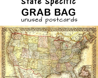 Grab Bag - State Specific unused Postcards