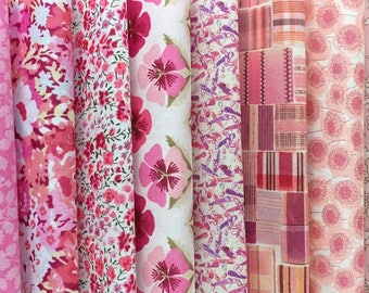 "10 x 5"" Squares - Pink Pack of Liberty London Tana Lawn"