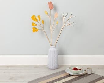 Extra Large Wooden Flowers - Trumpet Flower Set