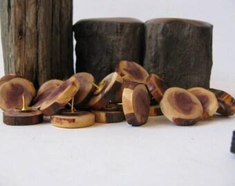Wood thumbtacks  6, 12, 24 or 48. Push pins made of juniper wood.
