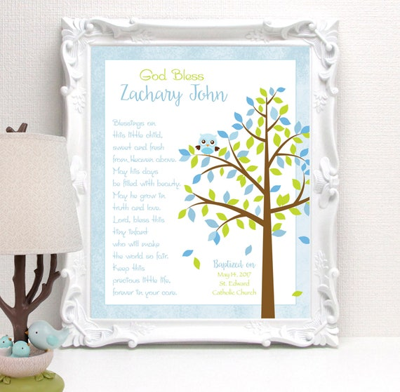 BAPTISM Gift - Personalized Christening or Baby Dedication Gift ...