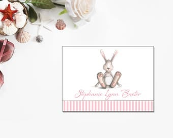 Bunny Rabbit | Thank You Cards | Printable PDF Instant Download | BSI101TY