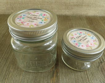 Personalized Canning - Design - 20 4 Oz  Mason Jars Jars or 12 8 Oz Square Mason Jars With Custom Labels