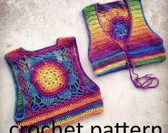 Crochet Pattern - Luna Mandala Vest