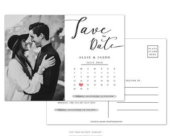WD4 :. Save The Date Postcard Template |  Save The Date
