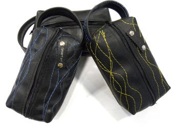 Inner Tube Cosmetic Bag // Rubber Toiletry Bag // Inner Tube Accessory Bag // Rubber Pencil Case