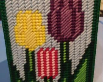 Tri-tulips Tissue Box Cover