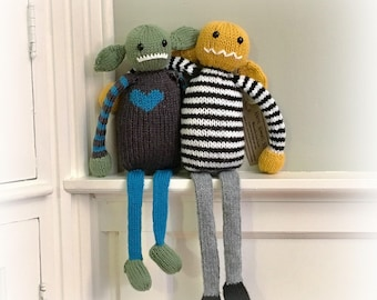 Frankie or Frannie  the Hand Knit Monster Stuffed Animal Toy