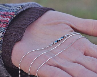 Handmade sterling silver necklaces