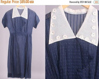 40% SALE 1950's Dress || Vintage Shirtwaist Dress || 26 inch waist (Small)