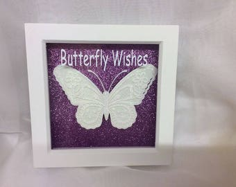 Butterfly Wishes Plaque