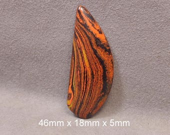 Bowlerite..... Duck Pin Mineralite Recycled Bowling Ball Cabochon