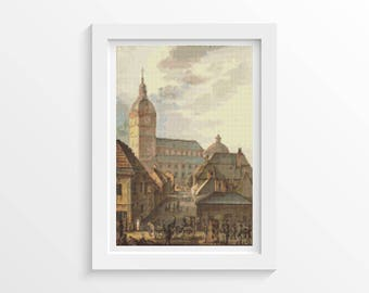 Church Cross Stitch, Cathedral of Turku Cross Stitch, Embroidery Kit, Art Cross Stitch, Carl Ludvig Engel (ENGEL01)