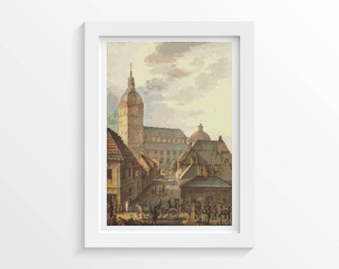 Cross Stitch Kit, Embroidery Kit, Art Cross Stitch, Church Cross Stitch, Cathedral of Turku by Carl Ludvig Engel (ENGEL01)