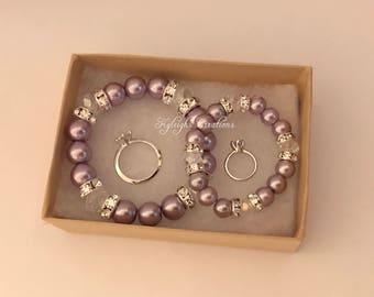 Purple sister set, sister set, sister bracelets, newborn bracelet, toddler bracelet
