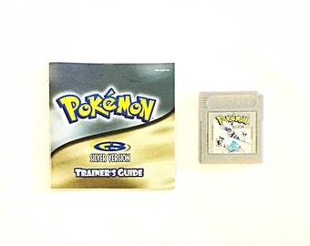 Vintage Pokemon SILVER Version Nintendo Game Boy Color RPG Video Game