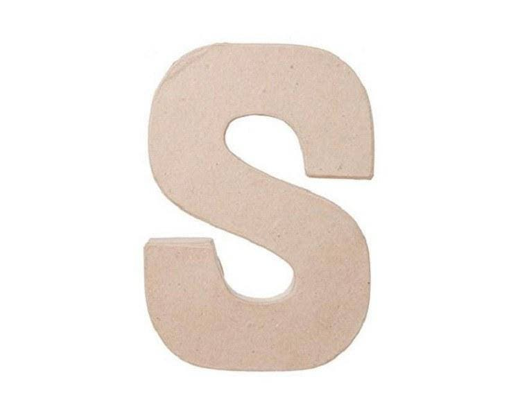 8 inch paper mache letter s cardboard letters paper craft for Alphabet letters cardboard