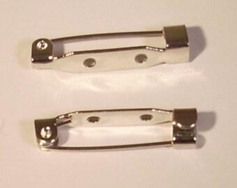 Brooch pin silver 25mm x 2 brand rayher beads