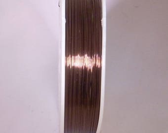 Spool of 0.4 mm chocolate copper wire
