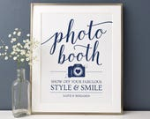 Reserved for Jeff // Printable Photo Booth Sign