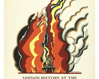 Vintage Poster Print London History at the London Museum, for London Underground, 1922