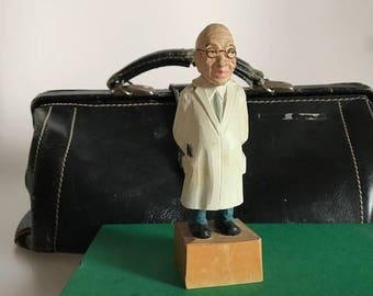 Wood Carved Physician made in Germany