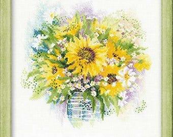 Sunflowers - Cross Stitch Kit from RIOLIS Ref. no.:100/007