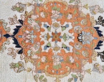 Plush Tabriz Style Oriental Rug -- 5 ft. 7 in. by 2 ft. 6 in.