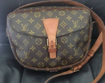 Louis Vuitton Vintage Handbag Monogram Jeune GM 1987 Crossbody Bag, Shoulder Bag,