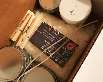 DIY Candle & Lip Balm Kit, DIY Craft Gift, Craft Kit, Candle Supplies, Make Your Own, Container Kit, Candle Making, DIY Candle Kit