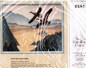 The Creative Circle Canadian Geese Crewel Embroidery Kit #6184 Morning Flight Free Shipping USA