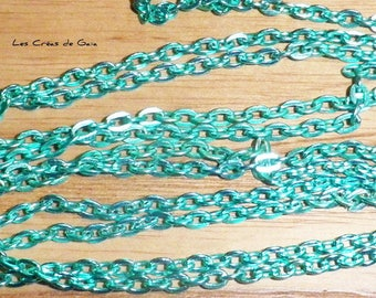 1 x 115cm from Mint green metal link chain