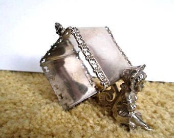 Sale Meriden Co. Silverplate Kate Greenway Girl Napkin Ring