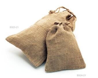 Hessian Bags/ Natural Colour Burlap Bags / Hessian Drawstring Sack / Favor Gift  Bags UK