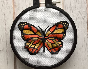 Butterfly Bug Counted Cross Stitch PATTERN DIGITAL DOWNLOAD Beginner