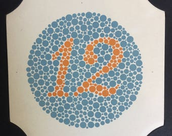 1959 Tests for Colour Blindness, Gorgeous Book from 1959 Japan, Rare Collectible, Beautifully Ccrafted, Gift Display Inspiration Tokyo Kyoto