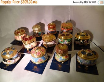 25% OFF Imperial Music Box Collection The Franklin Mint House of Faberge COMPLETE SET with Certificate of Authenticity embellished with 24kt