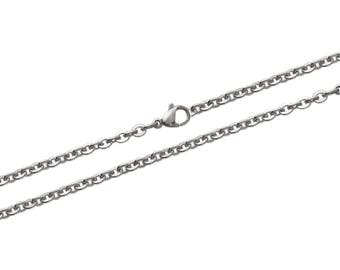 Steel carabiner width 3 mm chain necklace chain