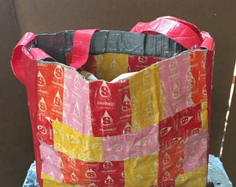 Starburst wrapper/ Duct Tape Purse