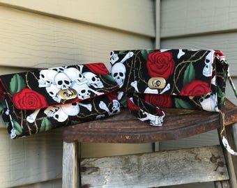 Skulls and Roses Wallet, Alexander Hnery Wallet, Skull Wallet, Emmaline Wallet, NCW Wallet,  Skull Wallet, Rockabilly Wallet