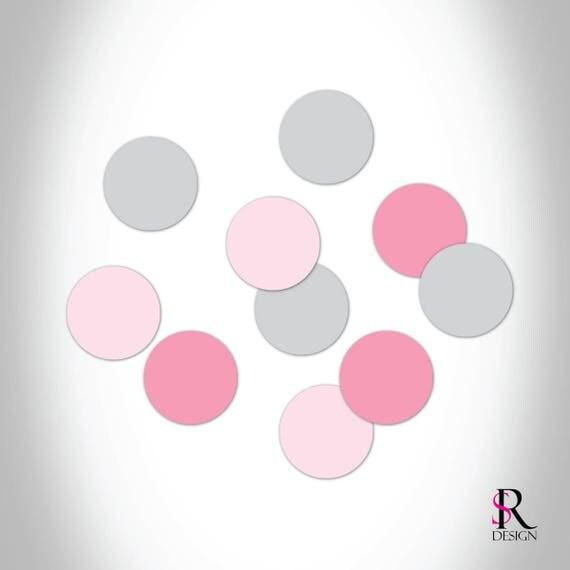 Circle Confetti, Pink and Gray Set