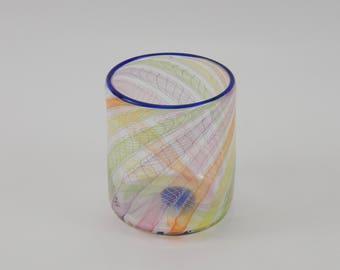 Hand Blown Glass Tumbler - Art Glass - Rocks Glass