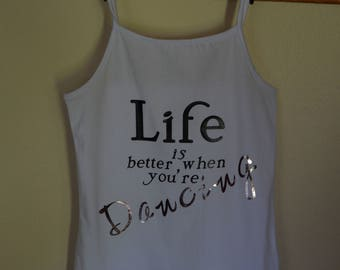 Girls Dance Tank/Personalized/Girls Glitter Tank/Dance Competition