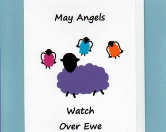 Greeting Card / May Angels Watch Over Ewe