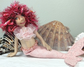 Art Doll-Abina the Small Mermaid OOAK Cloth Doll