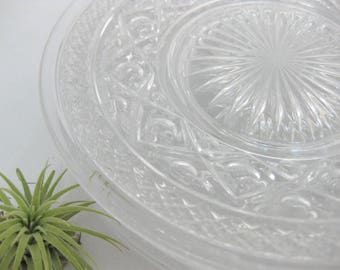 Imperial Glass Luncheon Plates, Cape Cod Luncheon Plates, set of 6