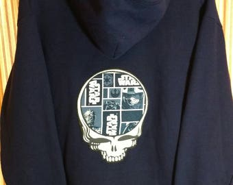 Size XL Steal your face Star Wars zip up hoodie. One-of-a-kind!