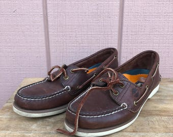 Vintage Timberland boat moccasins. Size 7. Barche. Boat shoes.